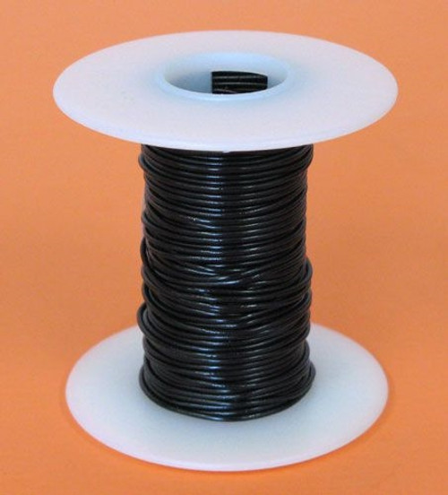A.E. Corporation 22BK-25S 22 GA Black Hook Up Wire, Solid 25'
