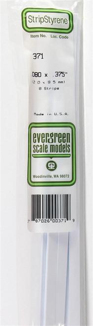 "Evergreen Scale Models 371 24"" Strip Pack .080"" x .375"" (8)"