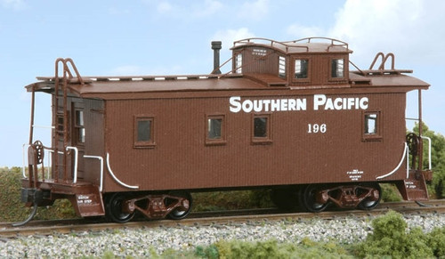 American Model Builders HO 876 Southern Pacific Lines class C-30-1 Full-Width, Straight-Sided Wood Cupola Caboose Kit