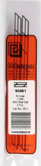"""Plastruct N 90481 SR-2 ABS Stair Rail, 1/4"""" (2)"""