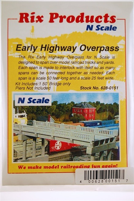 Rix Products N 628-0151 Early Highway Overpass Kit