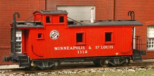 American Model Builders HO 882 Minneapolis & St Louis Wood Cupola Caboose Kit