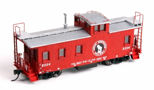American Model Builders HO 880 Great Northern 30' Tongue and Groove Wood Caboose Kit