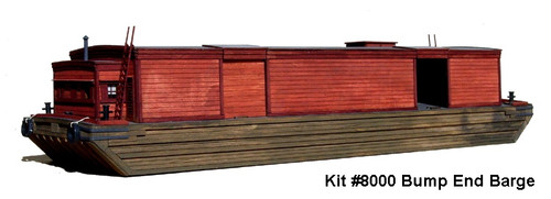 American Model Builders HO 8000 Bump End Barge Kit (d)