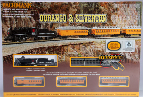 Bachmann N 24020 Durango and Silverton Steam Train Set with E-Z Track and Standard DC Power Pack