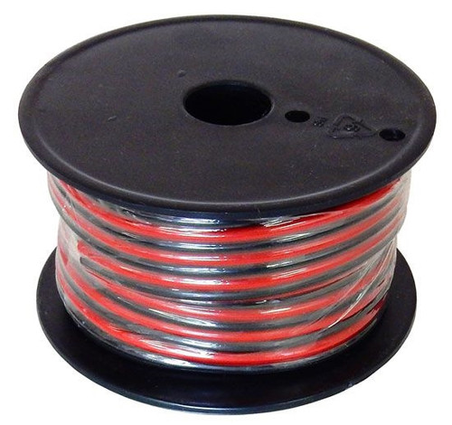 A.E. Corportion WRB-14-100 14 Gauge Stranded Wire Black and Red Conductors Zip Cord