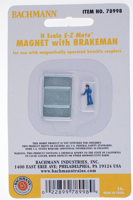 Bachmann N 78998 E-Z Mate Magnetic Uncoupler with Brakeman (For installation under EZ-Track)