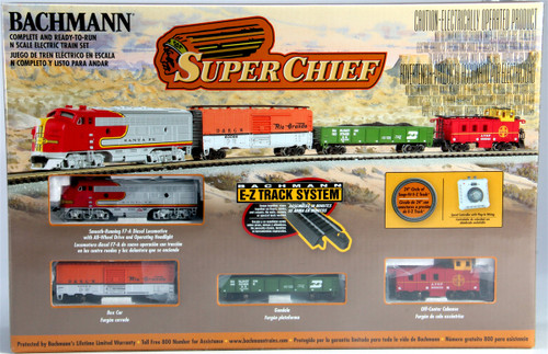 Bachmann N 24021 Super Chief Train Set with E-Z Track and Standard DC Power Pack, Atchison, Topeka and Santa Fe