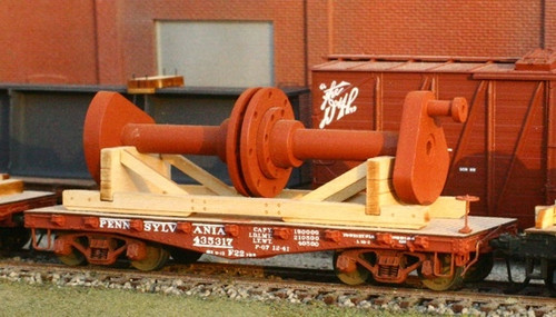 American Model Builders HO 288 Crankshaft Flat Car Load, Kit