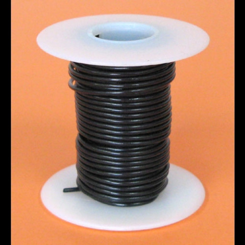 A.E. Corporation 18BK-25S 18 GA Black Hook-Up Wire, Solid 25'