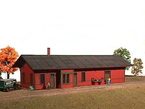 American Model Builders HO 144 Burlington Route Depot Kit