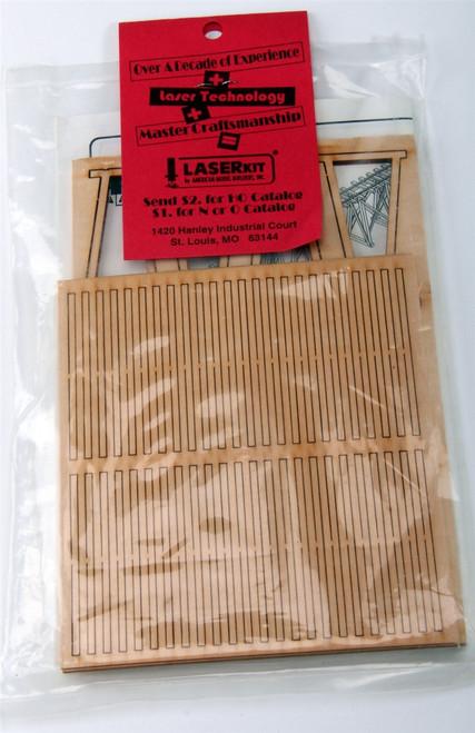 American Model Builders HO 165 Laser-Cut Wood Kit, Mine Trestling (d)