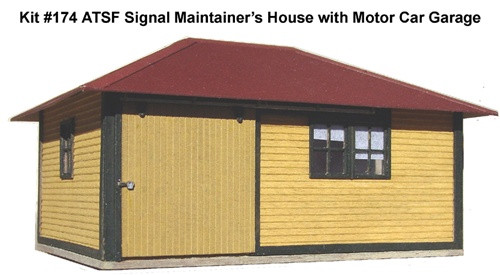 American Model Builders HO 174 Material House for Signal Maintainer and One Motor Car Kit