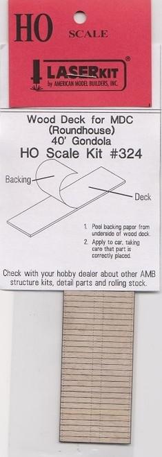 American Model Builders HO 324 Wood Deck for Model Die Casting Gondola
