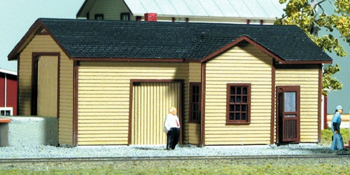 American Model Builders HO 177 Laser Cut Wood Kit, Illinois Central Type A Depot