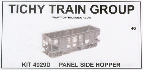 Tichy Train Group HO 4029D Rebuilt USRA 2-Bay Hopper Car Kit with Decals