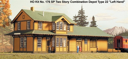 "American Model Builders HO 176 Southern Pacific Two Story Type 22 Depot ""Left Hand"""