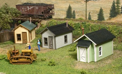American Model Builders HO 722 Laser-Cut Wood Kit, Miner's Cabin (3-pack)
