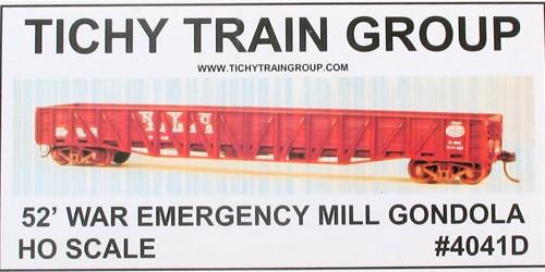 Tichy Train Group HO 4041 War Emergency Mill Gondola Kit