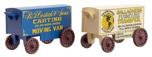 Micro-Trains N 47000279 15' Vintage Work Wagons, B.G. Costitch & Sons/Gallagher's Furniture (2-Pack)