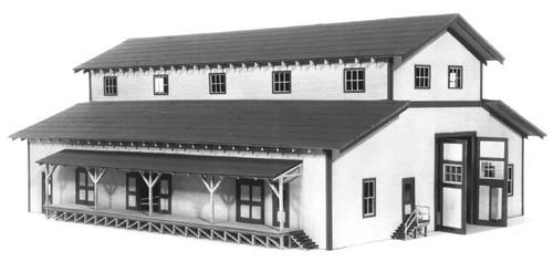 American Model Builders HO 704 Lineside Structures Laser Kit, Transfer Building