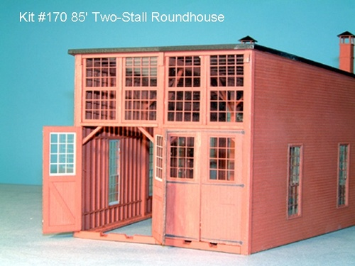 American Model Builders HO 170 85' Wood Roundhouse Kit (d)