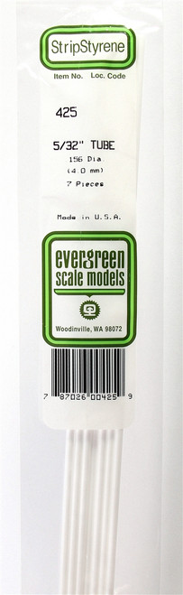 """Evergreen Scale Models 425 .156"""" Round Tubing (7)"""