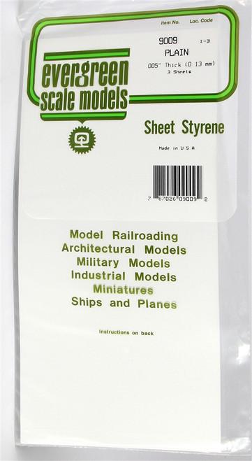 "Evergreen Scale Models 9009 6"" x 12"" Plain White Sheet .005"" (3)"