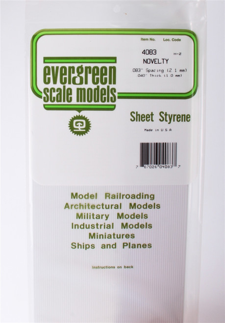 "Evergreen Scale Models 4083 .083"" Novelty Drop Siding"