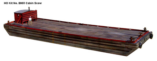 American Model Builders HO 8003 Laser-Cut Wood Kit, Cabin Scow