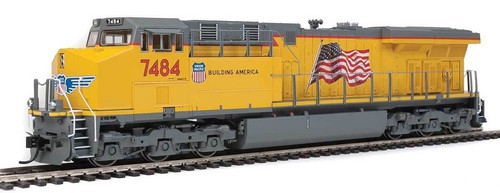 Walthers Mainline HO 910-20161 GE ES44AH Evolution Series GEVO Locomotive, SoundTraxx(R) Sound & DCC, Union Pacific(R) #7484 (yellow, gray, US Flag)
