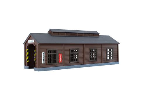 Rokuhan Z S051-1 Wood Engine House, Dark Brown