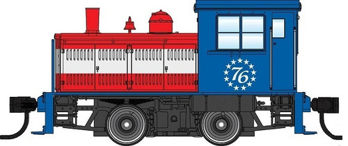 Walthers Mainline HO 910-20008 Plymouth ML-8 Industrial Switcher, Bicentennial (DCC Equipped)