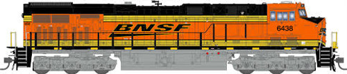 Broadway Limited Imports HO 5477 GE ES44AC, Burlington Northern and Santa Fe #6438 (Paragon3 Sound/DC/DCC Equipped)