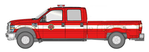 River Point Station HO 5385955R5 2008 Ford F-450 Series Super Duty 4X4 DRW (Fire Department Graphics)