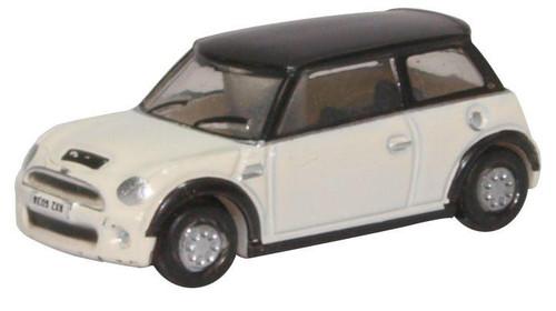 Oxford Diecast N NNMN002 2000s Austin Mini, Pepper White