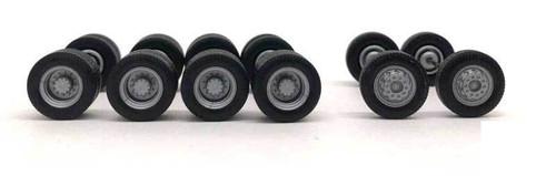Herpa HO 005479 Planetary Hub Truck Wheels (2 Fronts, 4 Rears)