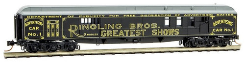 Micro-Trains N 14800210 70' Heavyweight Mail Baggage Car, Ringling Bros. and Barnum & Bailey #1