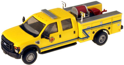 """River Point Station HO 538540286 Ford F-550 XLT Crew Cab, Yellow DRW (Black Grille and Bumpers, 17"""" Argent wheels)"""