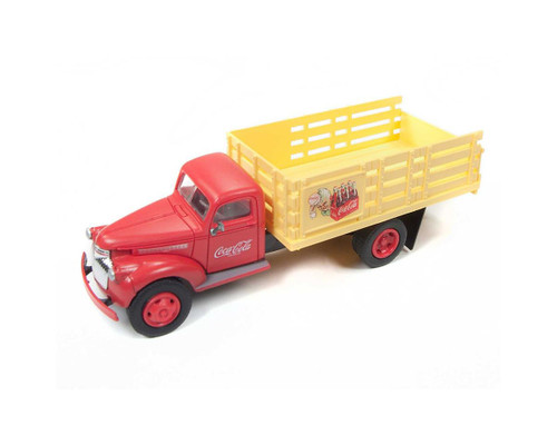 Classic Metal Works HO 30510 1941-1946 Chevy Stakebed Truck, Coca-Cola