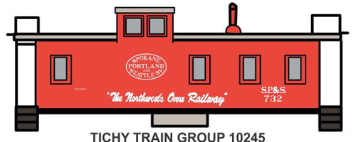 Tichy Train Group HO 10245 SP&S Wood Caboose Decal Set
