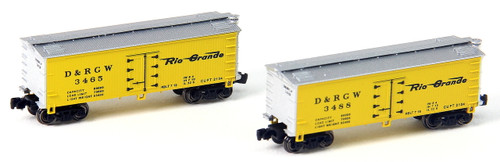 Full Throttle Z FT9014-1 34' Woodside Refrigerator Car Set #1, Rio Grande (2-Pack)