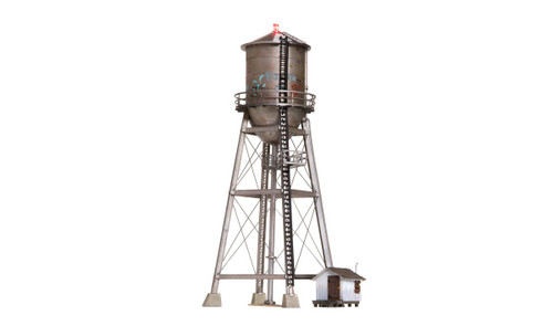 Woodland Scenics HO BR5064 Built and Ready Rustic Water Tower (Lighted)