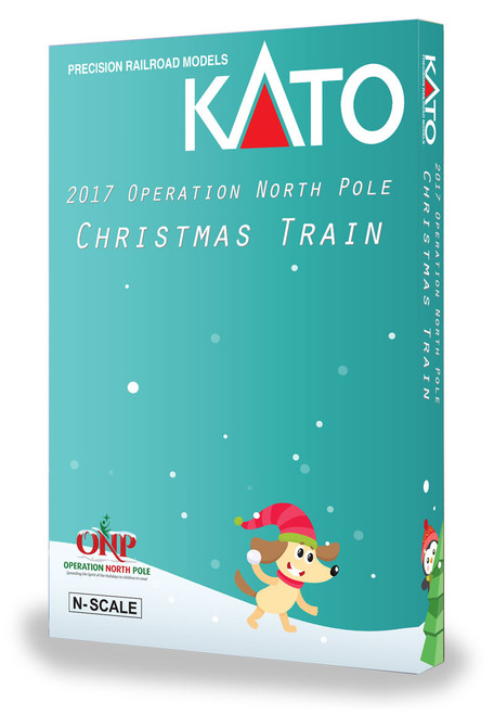 Kato N 106-2017 Operation North Pole 6-Unit Christmas Train Set
