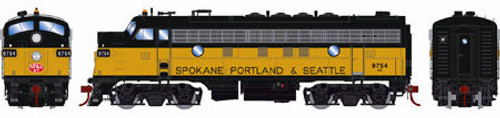 Athearn Genesis HO G22734 F7A, Burlington Northern (Passenger/SP&S Patch) #9754