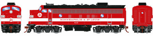 Athearn Genesis HO G22800 F7A, Minneapolis and St. Louis (Freight) #413 (DCC and Sound Equipped)