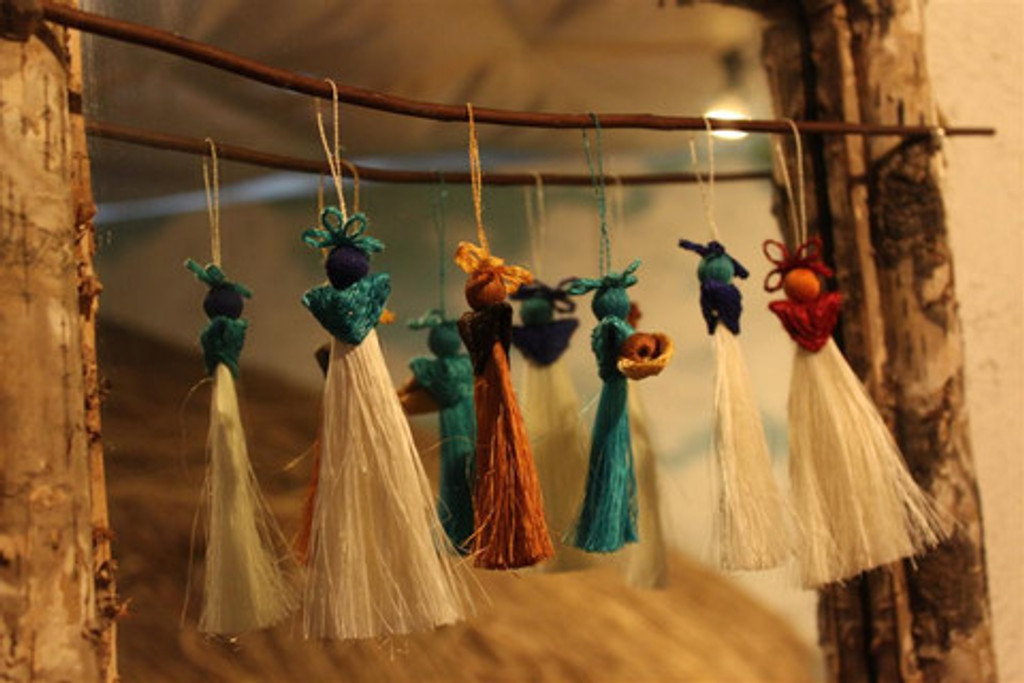 Sisal Fiber Nativity Ornaments from Swaziland