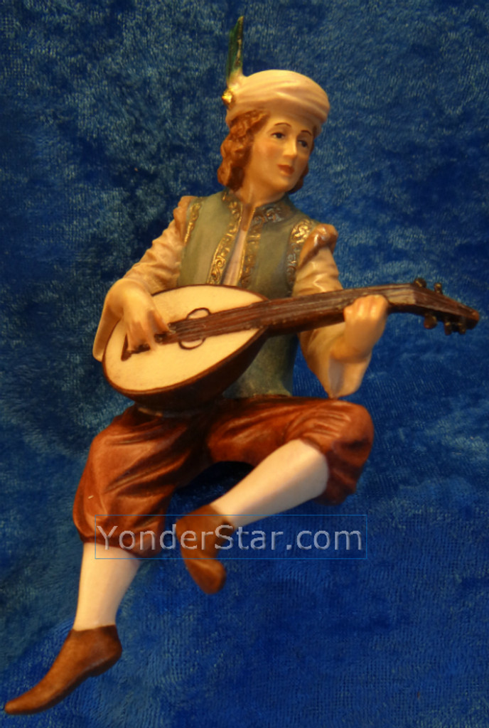 LEPI Venetian Nativity Page w Lute for King Balthasar : Pre-Order
