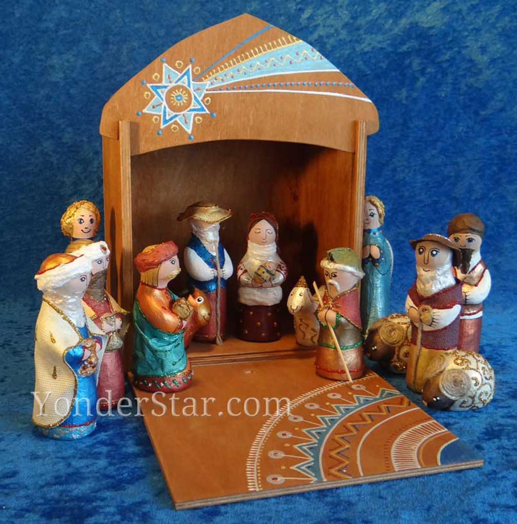 Ukrainian nativity vertep