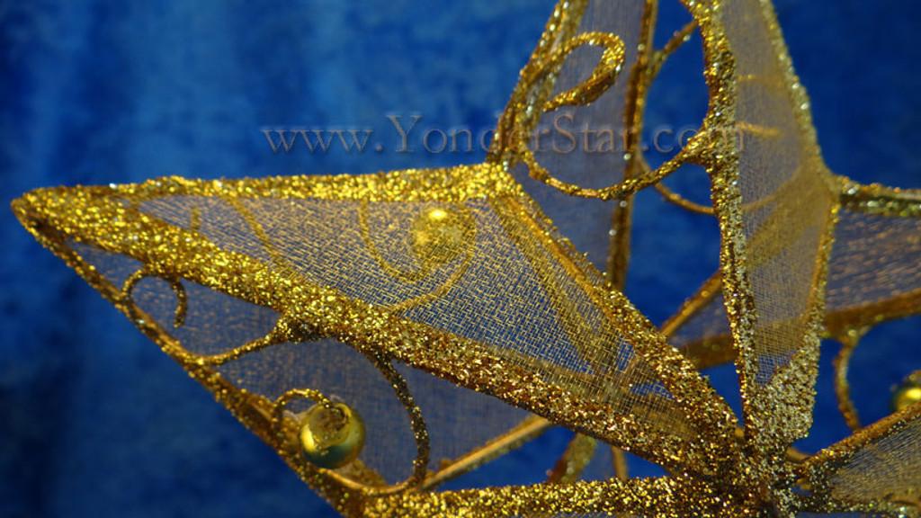 "6.25"" Gold Star Tree Topper"